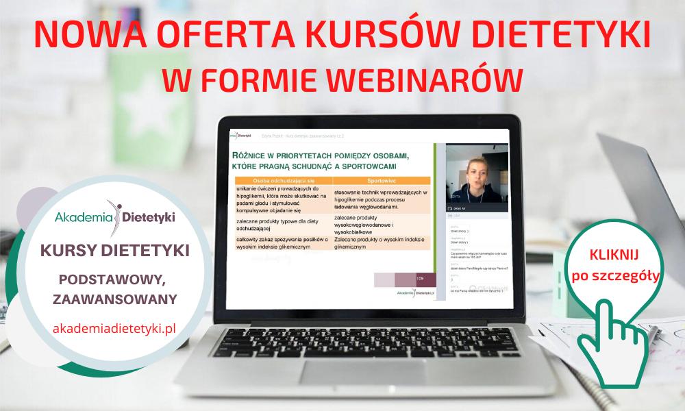 Nowa oferta kursów dietetyki - kliknij by się z nią zapoznać
