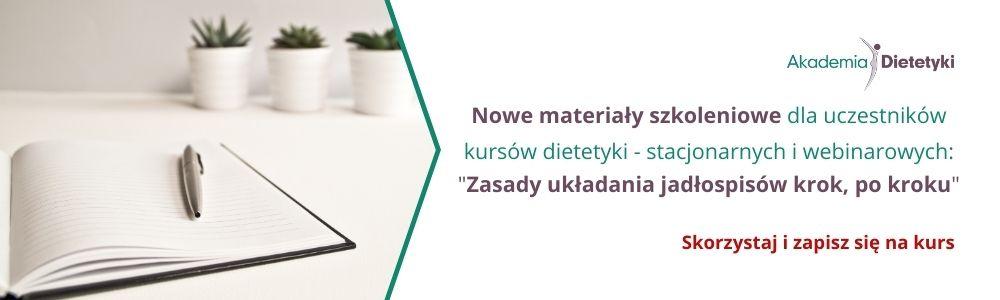 Nowe materiały szkoleniowe dla uczestników kursów dietetyki